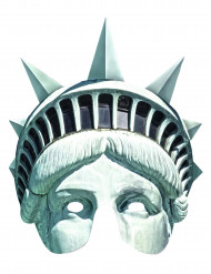 Maschera di cartone statua della libertà