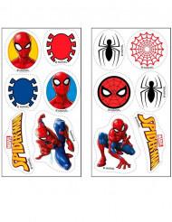 12 Mini dischi in zucchero Spiderman™ 3,4 cm