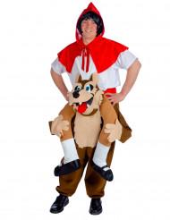 Costume cappuccetto rosso a dorso di lupo adulto