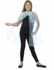 Mantello blu trasparente bambina