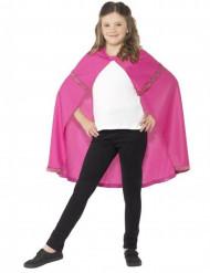 Mantello rosa principessa bambina