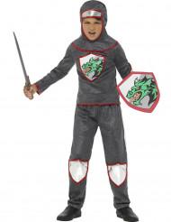 Costume da cavaliere con armatura del drago bambino