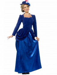 Costume principessa vittoriana blu donna