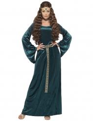 Costume regina medievale verde donna