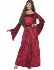 Costume regina medievale rosso donna