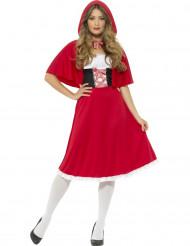 Costume da principessa del bosco rossa per donna