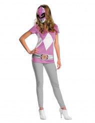 Costume Power Rangers™ da donna colore rosa