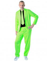 Abito classico verde fluo per adulto