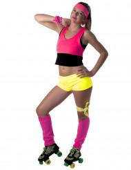 Pantaloncino giallo fluo per donna