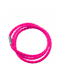 Bracciale intrecciato rosa fucsia per adulto