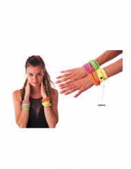 Bracciale fashion giallo acido per adulto
