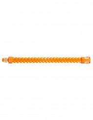 Braccialetto zip arancione fluo per adulto