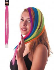 Ciocca rosa a clip per capelli
