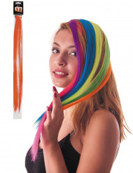 Ciocca arancione a clip per capelli