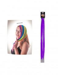 Ciocca di capelli viola a clip