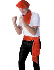 Cintura satinata rossa Feria Adulto
