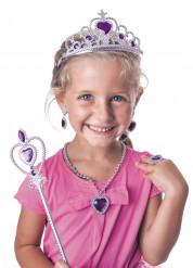 Kit accessori principessa viola bambina
