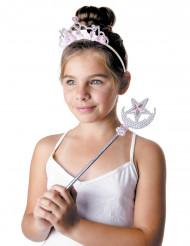 Diadema e bacchetta da principessa delle stelle per bambina