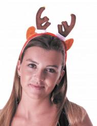 Cerchietto renna con campanellino per adulto