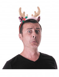 Cerchietto da renna glamour per adulto - Natale