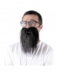 Barba Hipster nera Adulto
