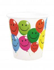 6 bicchieri di carta Smile