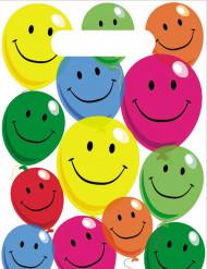 6 Buste per festa in plastica Smile
