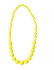 Collana di perle gialle per adulto