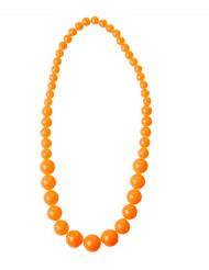 Collana di perle arancioni per adulto