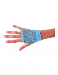 Mezzi guanti a rete celesti per adulto