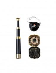 Kit accessori capitano dei pirati per adulto
