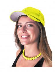 Cappellino giallo con lustrini per adulto