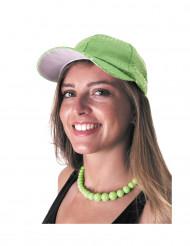 Cappellino verde con lustrini per adulto