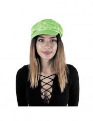 Cappello verde con paillettes per adulto
