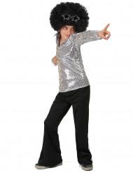 Costume disco argento per bambino