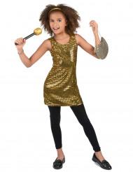 Costume disco dorato per bambina