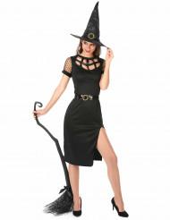 Costume da strega sexy nera Halloween donna