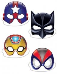 4 maschere da super eroe in cartone