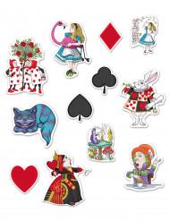 12 Decorazioni in cartone Alice nel paese immaginario