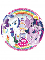 8 piattini di carta colorati My little pony™