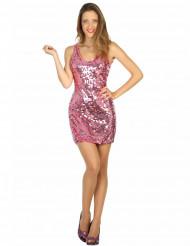 Costume vestito disco sexy rosa donna