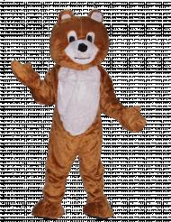Mascotte orso bruno maxi per adulto