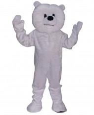 Mascotte orso bianco maxi adulto