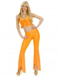 Costume disco sexy arancione per donna
