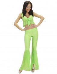 Costume disco sexy verde per donna