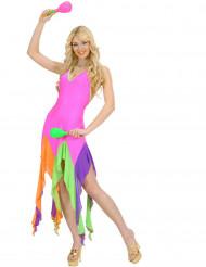 Costume da ballerina brasiliana fucsia per donna