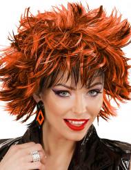 Orecchini a rombi neri e arancioni per donna