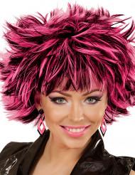 Orecchini a rombi nero e rosa per donna