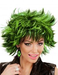 Orecchini a rombi nero e verde per donna