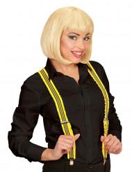 Bretelle a righe gialle e nere per adulto